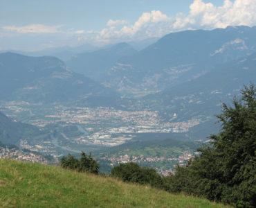 Inter summer camp trentino, panorama dall'alto del monte Baldo