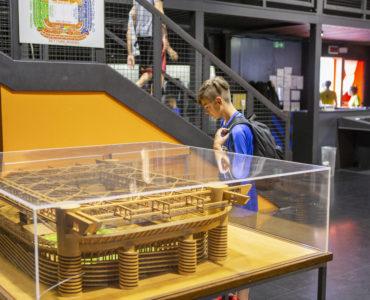 Visita al museo dello stadio durante il camp calcio Val Seriana